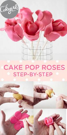 How To Make Cake Pop Roses | Step x Step| Cakegirls Projects #cake #roses