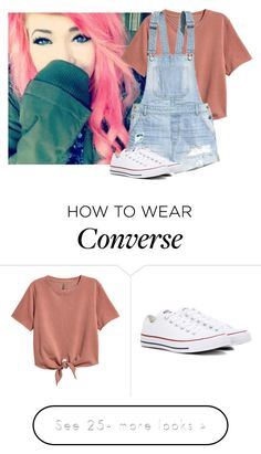 """*Walking Around* ~Liz"" by only-love-me-when-im-wasted on Polyvore featuring H&M and Converse"
