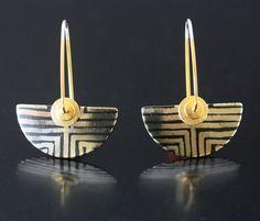 Batik Earrings by Keith Lewis