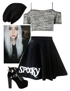 """""""Untitled #1684"""" by jeffthekillerlover22 ❤ liked on Polyvore featuring Halogen, Boohoo and Jeffrey Campbell"""