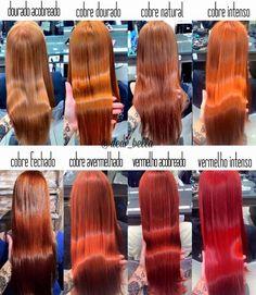 Variações do ruivo! Para saber mais sobre cores de cabelo, visite: http://salaovirtual.org/cores-de-cabelo/ #comopintar #coresdecabelo #salaovirtual