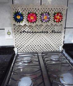 capa para fogão de croche 4 bocas - Pesquisa Google