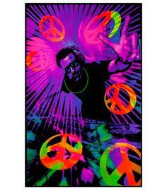 BL6021 - Opticz DJ Peace Blacklight Poster