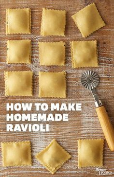 Learn how to make delicious homemade ravioli with these easy steps: http://www.bhg.com/recipes/ethnic-food/italian/how-to-make-homemade-ravioli1/?socsrc=bhgpin031414ravioli