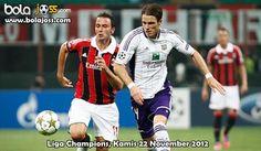 Prediksi Skor Anderlecht vs AC Milan Liga Champions 22 November 2012