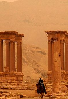 SYRIA - Palmyra - The area was once known as the Bride of the Desert and was a main stopping point for caravan travelers crossing the Syrian desert.