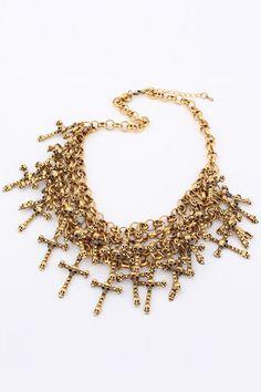 Cross Skull Tassel Necklace    $15.99 #romwe.com#Romwe