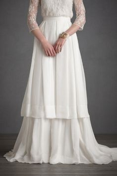 a white skirt for your wedding, it's something different then a dress.