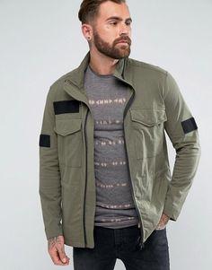 Religion Field Jacket in Jersey Cotton - Green