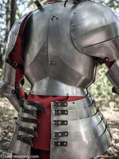 Medieval Knight Armour Churburg Shoulder Pauldrons With Brass Trims