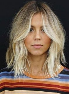 Bob Hairstyles 2018, Blonde Bob Hairstyles, Trending Hairstyles, Lob Haircut, Short Haircut, Lob Bangs, Blonde Bob Haircut, Blonder Bob, Wavy Bobs