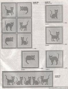 Схемы котиков для вязания в жаккардовой технике / Вязание для кукол / Бэйбики. Куклы фото. Одежда для кукол