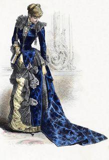 Victorian Fashion Plate, ca. 1870s Fashion, Edwardian Fashion, Vintage Fashion, Vintage Gowns, Vintage Outfits, Old Fashion Dresses, Evolution Of Fashion, 19th Century Fashion, Moda Vintage
