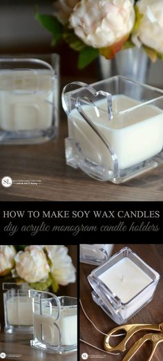 Make Easy Soy Wax Candles | DIY Personalized Candle Holders #michaelsmakers