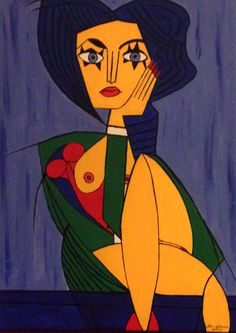 I am Woman. Acrylic on canvas by Julian de Burgh. Full copyright