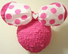 ALL Pink Valentine Minnie Pinata Ready to Ship by pinatamama, $55.00