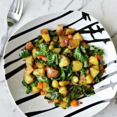 Curried Potatoes, Kale, and Carrots
