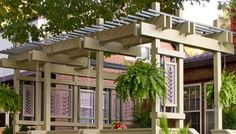 Build the perfect pergola in your garden this weekend. Here are 51 free DIY pergola plans to get you started. Videos and PDF are included. #pergolaplansfree