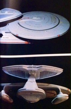 Rick Sternbach's design and Greg Jein's build of the Nebula class Sutherland for Redemption II, 1991.