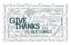 Let's Be Thankful is the title of this cross stitch pattern from Imaginating.