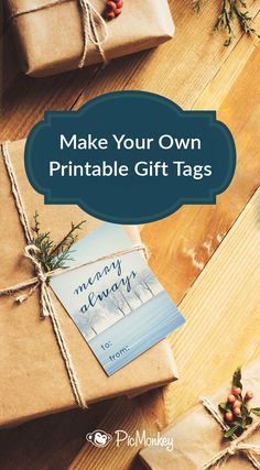 Learn to make DIY gift tags with PicMonkey's quick tutorial, and say buh-bye to off-the-shelf tags with impersonal, same-same images and uggers fonts.