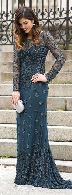 Valentine's Day Embroidered Gown by TrendyTaste