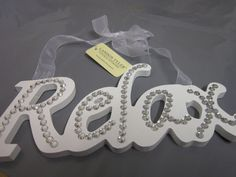Handcrafted Wooden Decor RELAX......... Elegant White Word Ornament Hanging Sign in Home, Furniture & DIY, Home Decor, Plaques & Signs | eBay