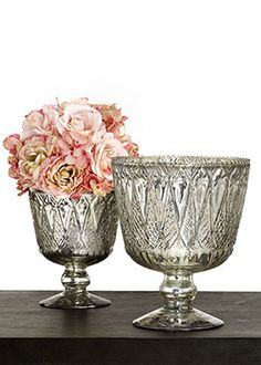 "Jamali Garden - 7x9"" Antique Silver Glass (12) @ $12.99ea or (3) Cases @ $44.00ea + $59.85 Shipping"