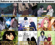 Sakura est comment dire... Une idiote et une naïve. (Pardon les fans de Sakura)