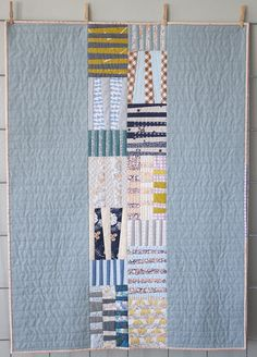 Totem baby quilt for Laurie | Carolyn Friedlander