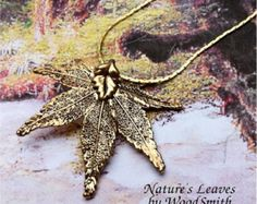 Real Leaf Jewelry, Japanese Maple Leaf Necklace Pendant, Gold Dipped or Antique Gold, natures leaves jewelry - Edit Listing - Etsy
