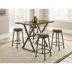 Steve Silver Furniture Omaha 5 Piece Counter Height Dining Set