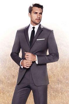 Groom in black tux and groomsmen in gray? - Weddingbee