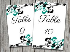 INSTANT DOWNLOAD Whimsical Vines Table by PaintTheDayDesigns, $10.00