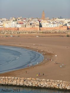 A beautiful beach overlooking Sale in Rabat Morocco where we visited