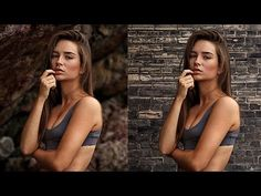How to Add a Background Texture to a Portrait in Photoshop - YouTube