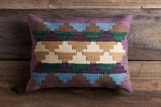 Maya Temple  Purple / 14x20  Kilim Pillow by ChristianRathbone, $110.00