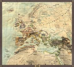 Europe in 500;  see this site for lots of maps from various time periods.
