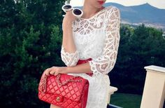 Chanel Mademoiselle bag red - Chanel Mademoiselle Tasche rot