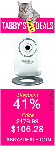 TRENDnet Megapixel PoE Internet Camera TV-IP572P $106.28