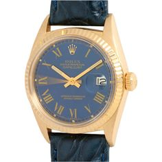 Pre-owned Rolex Yellow Gold Datejust Wristwatch circa 1969 ($6,950) ❤ liked on Polyvore featuring jewelry, watches, wrist watches, vintage jewelry, mens wrist watch, navy seal watches, gold jewelry and rolex watches