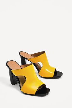 LEATHER HIGH HEEL SANDALS   - These 11 Mules Will Revive Your Shoe Game For Spring