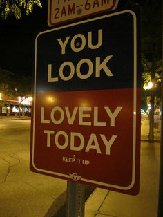 Wouldn't it be fun to sneak around and put up wonderful little bits like this all over town...