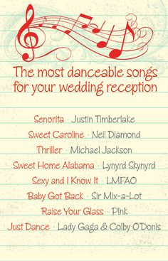 The most danceable song selections for your wedding reception
