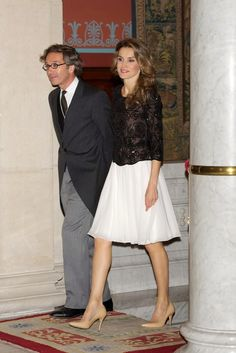 """Attending the """"Royal Academy of Language"""" (RAE) ceremony for Spanish author Carme Riera in Madrid - 7 November 2013"""