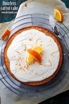 Flourless Carrot Cake Diethood Flourless Carrot Cake with Mascarpone Frosting #Zindigity