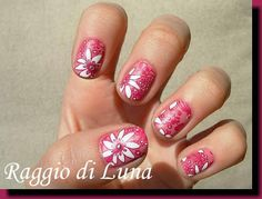 Raggio di Luna Nails: BPS review Stamping plate BP-L011 - Spring floral stamping manicure