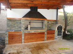 Best Ideas Outdoor Kitchen Designs - Best Home Ideas and Inspiration Outdoor Kitchen Patio, Outdoor Oven, Outdoor Kitchen Design, Patio Design, Outdoor Living, Barbecue Grill, Barbecue Original, Parrilla Exterior, Fire Pit Grill