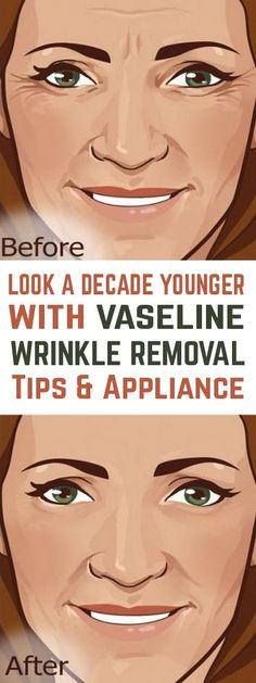 Vaseline can do miracles when used in removing wrinkles. However, the appliance isn't the same on eyes and face. Plus bonus tip vaseline in combination with coconut oil and their wonders! Vaseline, Beauty Tips For Face, Beauty Secrets, Beauty Products, Face Tips, Skin Products, Skin Care Regimen, Skin Care Tips, Skin Tips