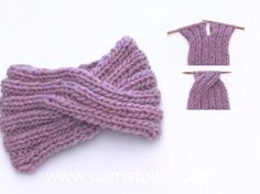 Weekender / DROPS - Free knitting patterns by DROPS Design Design tricot How to knit a head band with a cable mid front. Knitting Patterns Free, Free Knitting, Crochet Patterns, Hat Patterns, Finger Knitting, Knitting Machine, Knitting Socks, Bandeau Torsadé, Knitted Headband Free Pattern